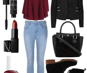 outfit, red, and winey day image