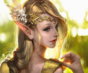 elf, fantasy, and art image