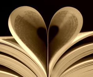 book, heart shaped, and pages image