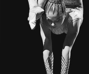 acrobat, black and white, and circus image