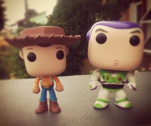 buzz, pop, and toy art image
