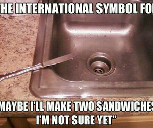 funny, sandwich, and lol image