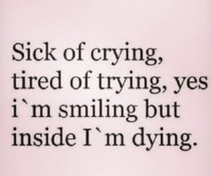 quotes, crying, and dying image