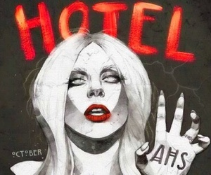american horror story, hotel, and Lady gaga image