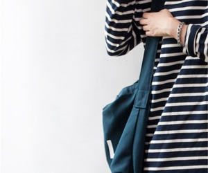 girl, style, and stripes image
