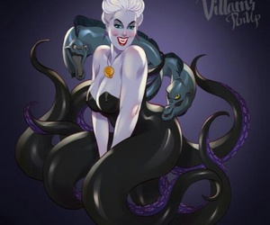 disney, ursula, and villain image