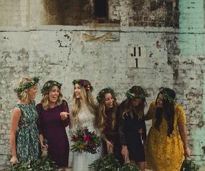 wedding, boho, and bridesmaid image