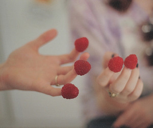 raspberry, fingers, and hands image