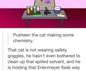 funny, pusheen, and chemistry image