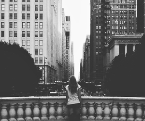 america, black and white, and city image