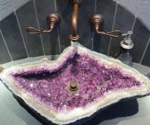 sink, crystal, and purple image