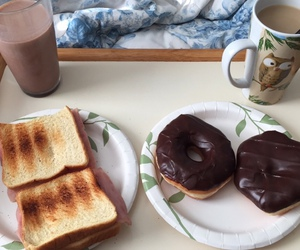 bed, breakfast, and chocolate image