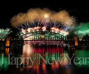 fireworks and happy new year image