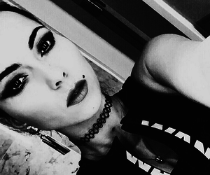 black and white and inna image