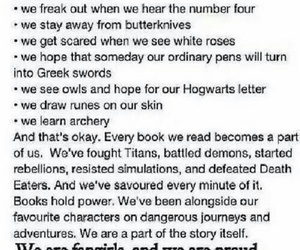 books, quotes, and fangirls image