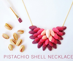 diy, necklace, and pistachio image
