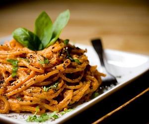 food, delicious, and spaghetti image