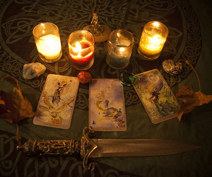 candle, tarot, and witch image