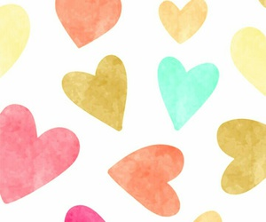 wallpaper, hearts, and colors image