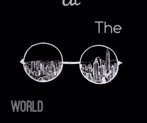 black and white, world, and city image