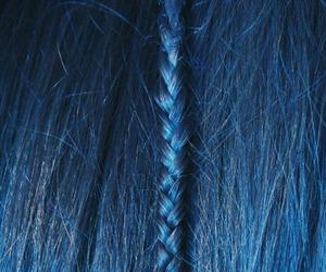 blue, braid, and hair image