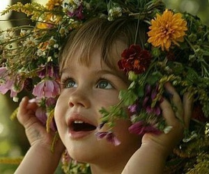 flowers and child image