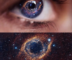 eyes, galaxy, and eye image