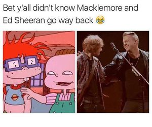 funny, macklemore, and ed sheeran image