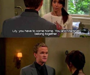 barney, ends, and lily image