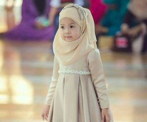 hijab, cute, and child image