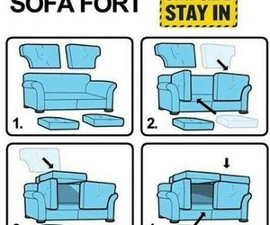 sofa, diy, and fort image