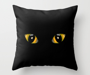 cat, eyes, and Halloween image