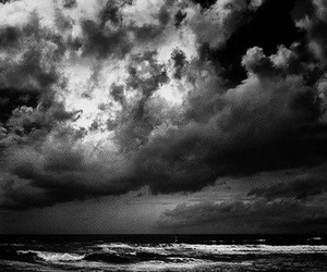 black and white, photography, and sea image