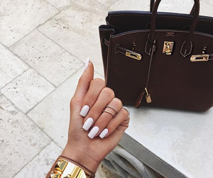 nails, bag, and style image
