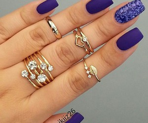 nails, design, and long image