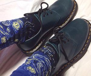 shoes, socks, and van gogh image