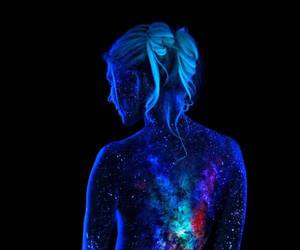 art, belleza, and body painting image