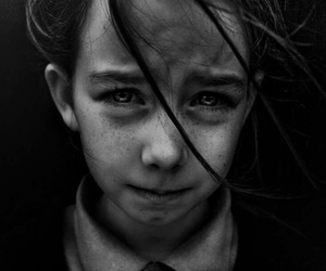 photography, sad, and black and white image