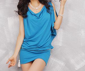 blue, fashion, and cute image