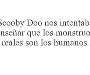 scooby doo, monsters, and frases image