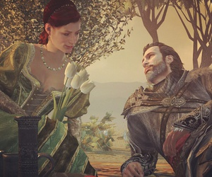 flowers, picnic, and assassin's creed image