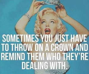 crown, quotes, and Queen image