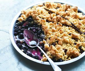 blueberry, food, and pie image