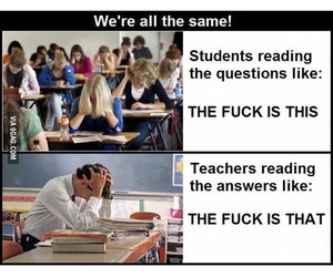 funny, exam, and student image