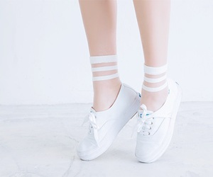 white, pastel, and shoes image