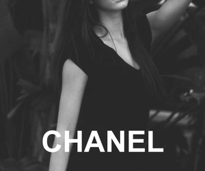 kendall jenner, black and white, and chanel image