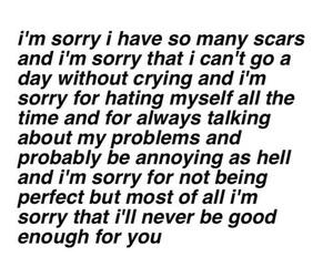 scars, sad, and sorry image