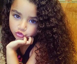 hair, baby, and curly image