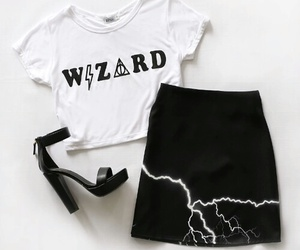 fashion, outfit, and wizard image