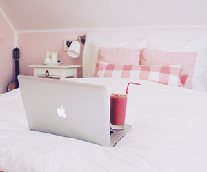 bedroom, mac, and pink image